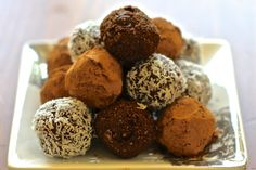 """Great balls of fire! Getting that energy boost in a yummy snack ball is so much better than downing some """"energy"""" drink filled with caffeine. These tasty snack balls will fuel you up and give you t…"""