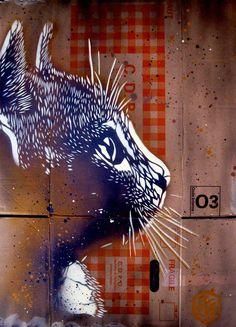 As obras de arte em stencil de C215 - IDEAGRID _32: