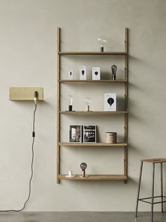 Frama's Shelf Library wall shelf consists of solid oak shelves that are fastened to the frame with decorative steel screws and brackets. The timeless, versatile and adaptable shelf is equally well suited for the kitchen, living room as well as the office. Oak Wall Shelves, Wall Shelves Design, Wall Design, Floating Shelves, Shelf Furniture, Furniture Design, Library Wall, Light Table, Home Lighting