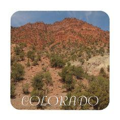 Red Rocks of Colorado Photo Coaster - photography gifts diy custom unique special