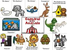 Carnival of the Animals Clip It Cards (FREEBIE) by TrinityMusic | Teachers Pay Teachers Physical Education Games, Music Education, Health Education, Team Building Activities, Music Activities, Elementary Music Lessons, Elementary Schools, Music Classroom, Music Teachers
