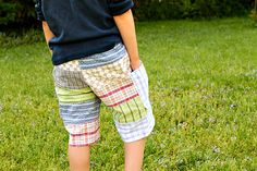 easy pieced boy's shorts - so cute and easy!  A great way to use up all of those scraps!!