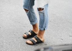 Rippy jeans and birks