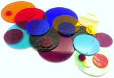 20 Precut Stained Glass Circles Handmade for your by JBsGlassHouse