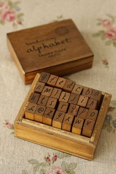 Antique Style Wood Stamps