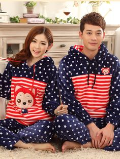 Free shipping high quality winter sweethearts pajamas