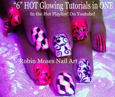 Hello Everyone! Here are my DIY Easy Mix N Match Nails | Neon Pink glow Design!! Designs and tutorials for NAILS at the next level! From DIY Easy Nail art de...