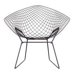 vintage harry bertoia for knoll diamond wire chair pair available, knoll wire chair