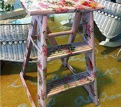 shabby chic step ladder