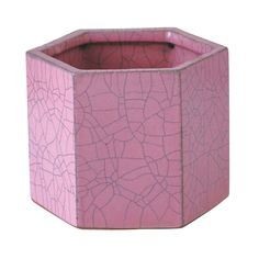 pink honeycomb pot