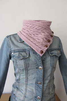 Breipatroon Roze gebreide sjaal in kabelmotieven door WilmaasHome, €2,95