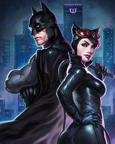 Batman and Catwoman - Batman Poster - Trending Batman Poster. - Batman and Catwoman Batgirl, Batman Et Catwoman, Im Batman, Supergirl, Superman, Catwoman Cosplay, Posters Batman, Batman Artwork, Dc Comics Art
