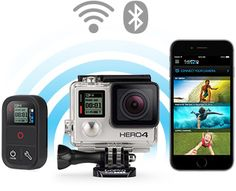 GOPRO - HERO4 SILVER CAMERA- Pro-quality video + built-in touch display. This model is the best value and most popular GoPro model. Features 1080p60 and 720p120 video, 12MP photos up to 30 frames per second, built-in Wi-Fi and Bluetooth®, and Protune™ for photos and video. Waterproof to 131 feet!  (College Distributor: D&H)