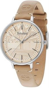 TIMBERLAND FALMOUTH - TBL15261MS07A, Silver Case with Beige Leather strap
