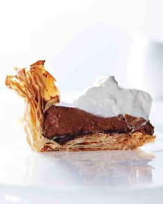 Chocolate Mousse Pie with Phyllo Crust   The crust is most crisp the day it's made, but the pie without the whipped-cream topping and chocolate shavings can be made up to a day ahead and stored in the refrigerator. To cut the pie into neat slices, use a serrated knife.