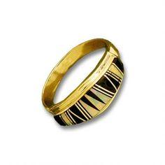 14K Gold Inlay Ladies Opal Ring