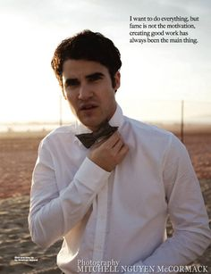 Darren Criss - Picture isn't the best, but I love this quote!