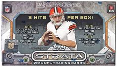 2014 Topps Strata Hobby Box 18 Packs 6 Card 3 Hits per Box Football Card Packs, Football Box, Football Trading Cards, Football And Basketball, Football Cards, Baseball Cards, Cleveland Browns History, Johnny Manziel, Best Home Gym