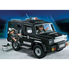playmobil 6043 voiture de patrouille de la police avec. Black Bedroom Furniture Sets. Home Design Ideas
