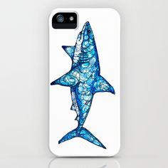 Shark iPhone & iPod Case by Kate Fitzpatrick Iphone 5 Cases, Cute Phone Cases, Iphone 5s, Pet Shark, Shark Bait, Shark Clothes, Save The Sharks, Shark Tattoos, Pin On