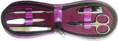 Manicure-Pedicur 5 Piece Stainless Steel kit set in Rexine Leather Purple Case -- To view further for this item, visit the image link. Nail Repair, Manicure, Nails, Nail Arts, Computer Accessories, Stainless Steel, Kit, Detail, Purple