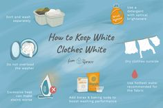 How to Banish Dingy White Clothes Forever Using effective care techniques will help keep your white clothes bright. Learn how to remove stains and freshen dulled whites in this easy guide. Washing White Clothes, Cleaning White Clothes, Green Cleaning, Home Design, Vinegar In Laundry, Baking Soda Laundry, Dingy Whites, Grease Stains, Remove Stains