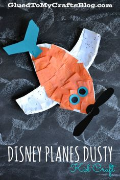 Paper plate Disney Planes Dusty {Kid Craft} #PlanesToTheRescue