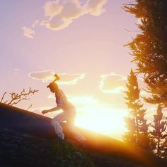 An awesome Virtual Reality pic! #gtav #gta5 #gtavonline #gta5online #playstation #sony #grandtheftautov #grandtheftauto5 #sun #sunset #sonnenuntergang #holzfäller #axt #axe #wood #forest #work #woodcutter #deforestation #virtualreality #baum #bäume #wald #sky #himmel #clouds by mrs.smartass check us out: http://bit.ly/1KyLetq