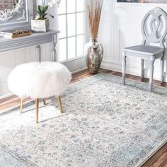 Shop for nuLOOM Vintage Flourish Aqua Rug (10' x 14'). Get free shipping at Overstock.com - Your Online Home Decor Outlet Store! Get 5% in rewards with Club O! - 21197112