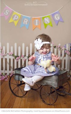 Easter Photo Session Ideas - Children's Portrait Session by Michelle McFadden Photography - Featured on I Heart Faces