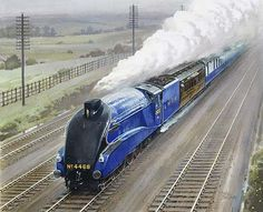 Shop - Our collection - National Railway Museum Old Steam Train, Steam Railway, Blue Train, Train Art, Road Train, Train Pictures, Electric Train, Steam Engine, Steam Locomotive