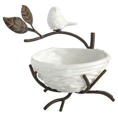 Porcelain Bird Nest Ring Holder
