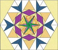 Spike Your English - block 4 - Diamonds All Around 60 degree design