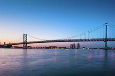Ben Franklin Bridge & Delaware River