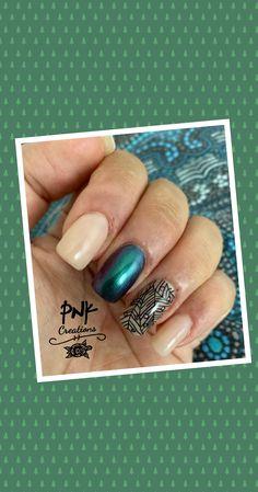 "Essie ""15 sugar daddy"", beauty bigbang  ""001"",  catrice ""malaikaraiss""and black stamping nail design My Nails, Nailart, Stamps, Nail Designs, Rings For Men, Beauty, Black, Jewelry, Seals"