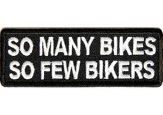 Many bikes few bikers patch