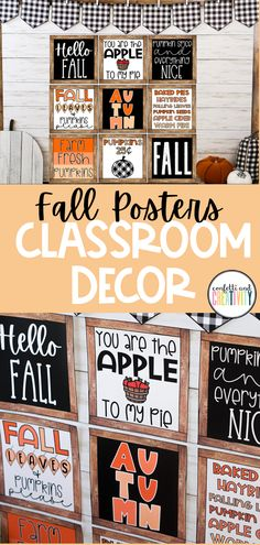 8 Farmhouse Classroom Essentials - Confetti and Creativity Classroom Walls, Classroom Bulletin Boards, Classroom Posters, School Classroom, Classroom Themes, Preschool Themes, Fall Classroom Decorations, Fall Decor, Holiday Decor