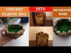 convertplasticbox beautifuldecoration Convert plastic box into a beautiful home decoration How To Make Crepe, Tree Bark, Colored Paper, Christmas Decorations To Make, Hello Everyone, Newspaper, Beautiful Homes, Plastic, Make It Yourself