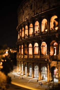 Night at the Colosseum, Rome, the last 4 times I've gone to Rome, I get a room and stay out all night. :)