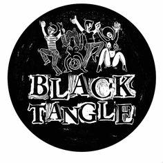Linocut print for black tangle dj's  by susanna doccioli
