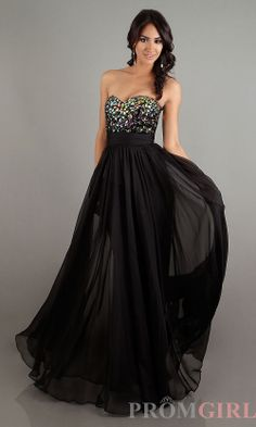Prom Dresses, Celebrity Dresses, Sexy Evening Gowns - PromGirl: Long Black Strapless Sweetheart #prom #dresses #gowns