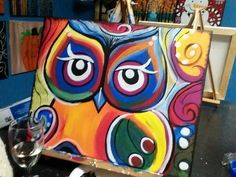 owl paintings on canvas - Google-Suche