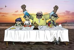 Here is a place where I will post all of the official Gorillaz art. I claim none of this art and it is all created by Jamie Hewlett. I will NOT be posting any fan art (including edits). Gorillaz Albums, Gorillaz Fan Art, Gorillaz Wiki, Damon Albarn, Tank Girl, Blur, Jaguar, Jamie Hewlett Art, Challenges