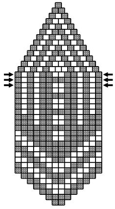 seed bead graph paper free | This is the pattern from the cover. Since it's only 2 colors, it shows ...