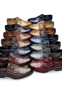 All the monks are in the Monastery. Monk straps are so cool and sleek. And guys....there are more options for shoes other than black and basic brown!