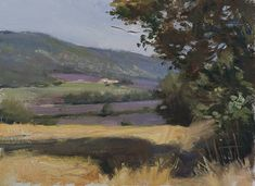daily painting titled Wheatfield and lavender, Sault - click for enlargement
