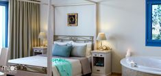 8 luxury suites designed according to the highest standards for the most comfortable and refined accommodation in Naxos. Welcome to Mitos Suites! Luxury Suites, Hotel Suites, Bed, Furniture, Design, Home Decor, Decoration Home, Room Decor, Home Furniture