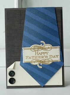 Father's Day Tie Card by Betsy Veldman for Papertrey Ink (April Masculine Birthday Cards, Birthday Cards For Men, Masculine Cards, Male Birthday, Happy Birthday, Boy Cards, Cute Cards, Karten Diy, Fathers Day Crafts