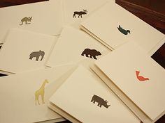 Enormous Champion: animal notecards