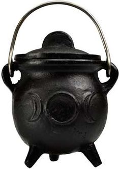 "3"" Triple Moon cauldron w/ lid"